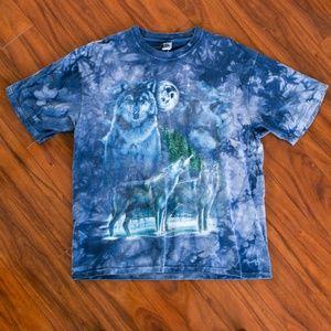 Vintage Tie Dye Wolves Wolf Custom T-Shirt